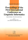 Proceedings of the First International Conference on Linguistic Informatics